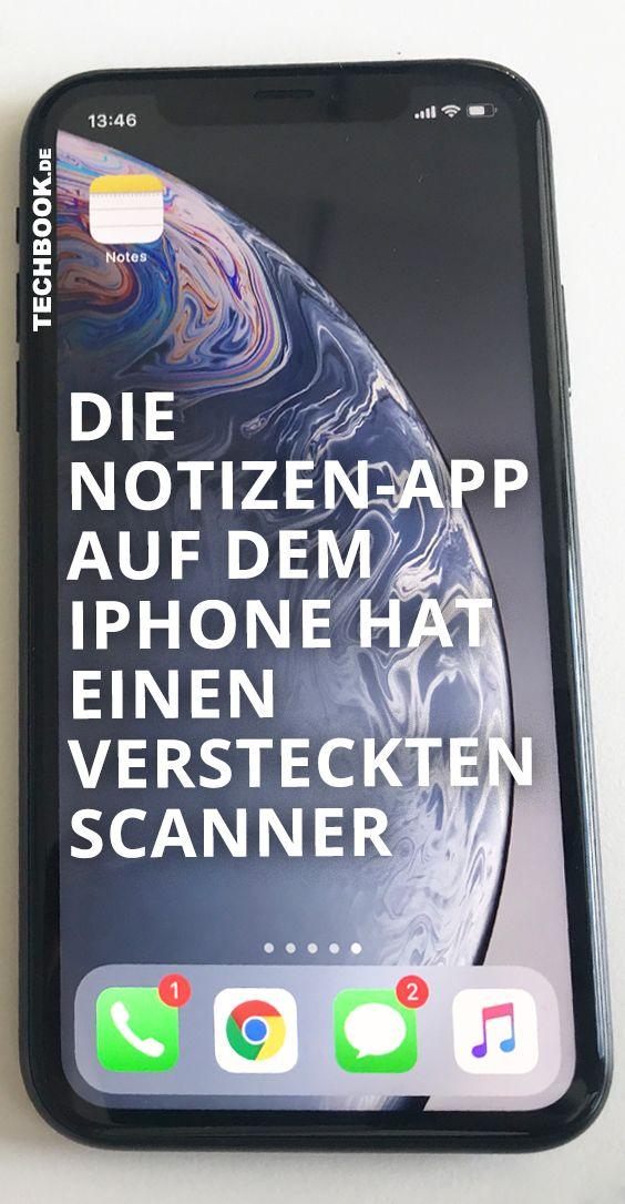 Die iPhoneNotizenApp hat einen versteckten Scanner