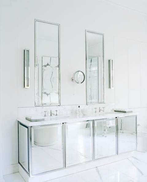 Mirrored Bathroom Cabinets Trendy Bathroom Bathroom Design