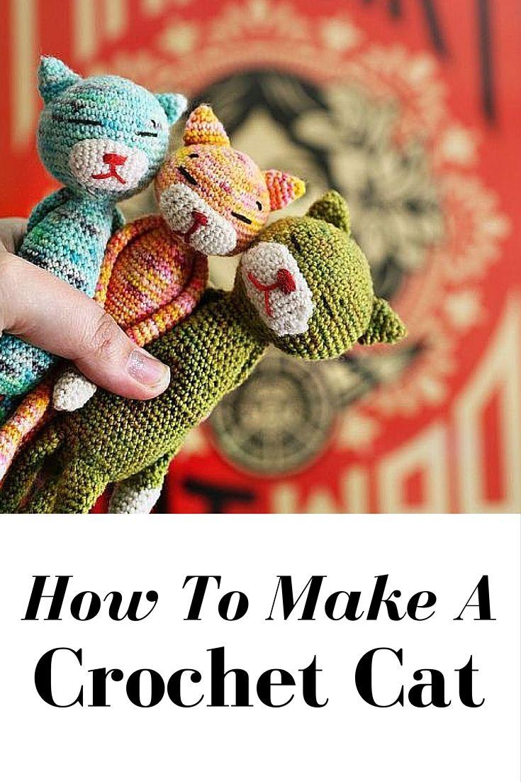How To Make A Crochet Cat | Tejido, Ganchillo y Gato