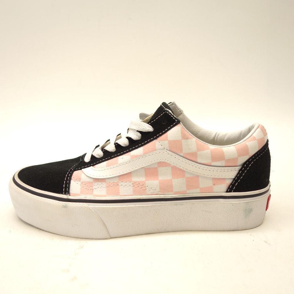ae1f54370b New Vans Womens Old Skool Black Pink White Checkered Platform Shoes Size  7.5  VANS  SkateShoes
