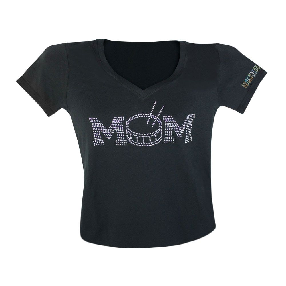 3d13e4a5 Lone Star Percussion Bedazzled Drum Mom Women's T-Shirt | Drummer ...