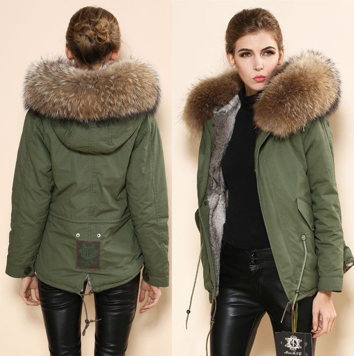 Winter Womens Parka Casual Outwear Military Hooded Coat Winter ...