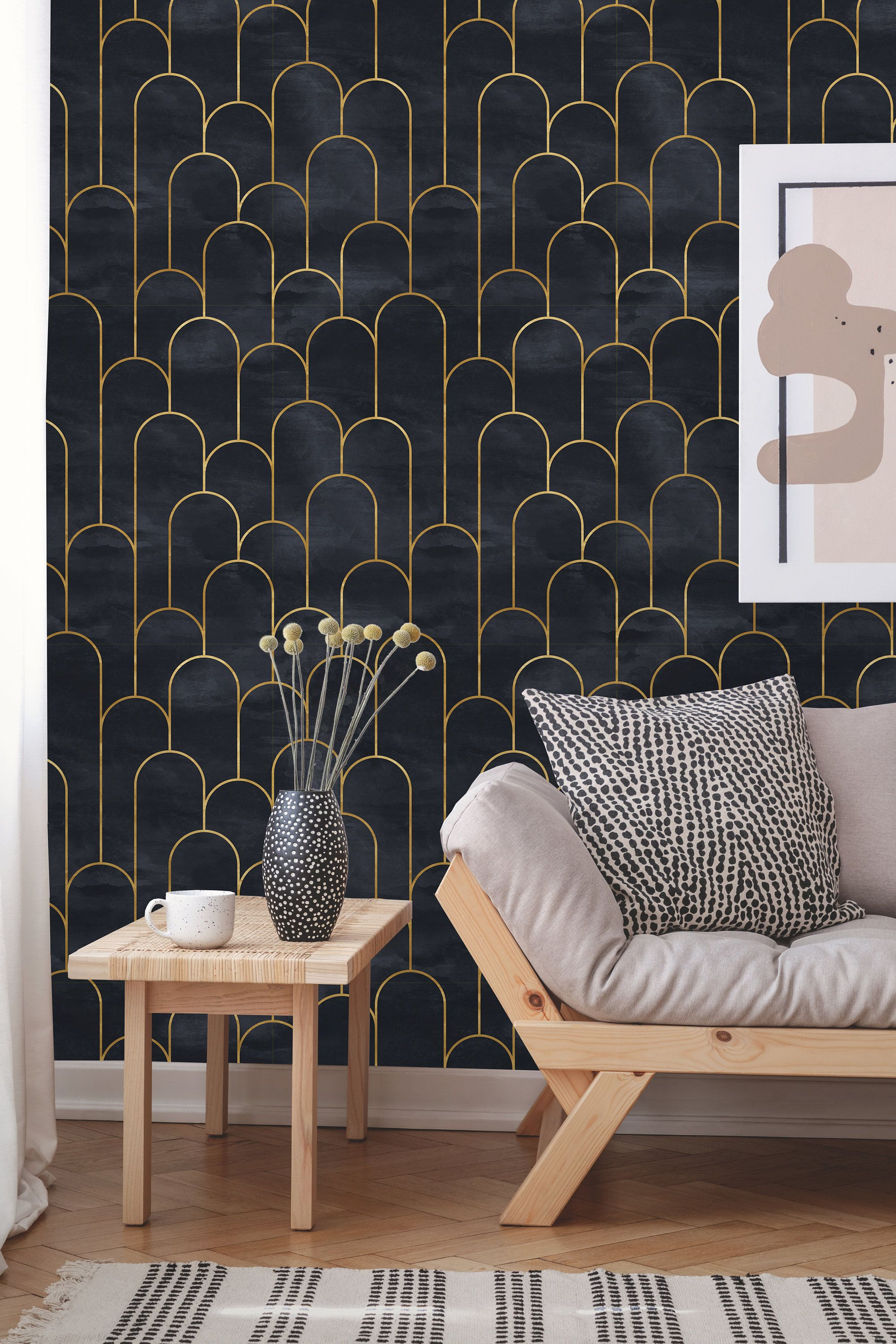 Removable Wallpaper Peel And Stick Geometric Wallpaper Etsy Interior Deco Art Deco Wallpaper Geometric Wallpaper