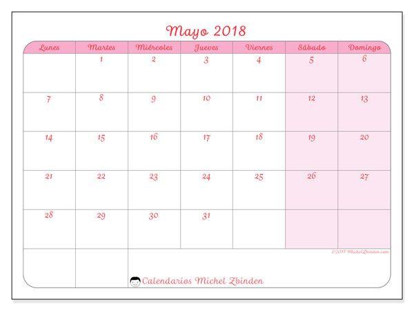 Calendario Mayo 2018 63ld Calendario Enero Calendario Para