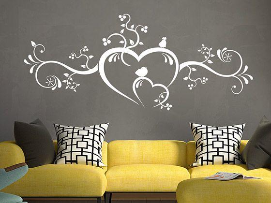 Herzornament Mit Sussen Vogelchen New House Ideas Wall Home