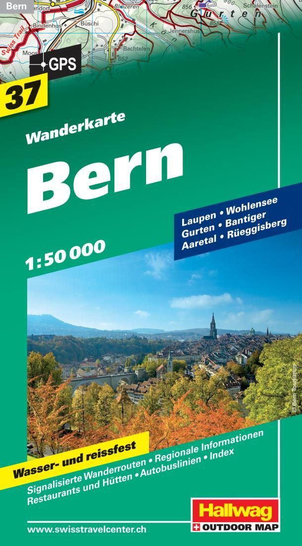 Bern Switzerland Hiking Map by Hallwag Bern and Products