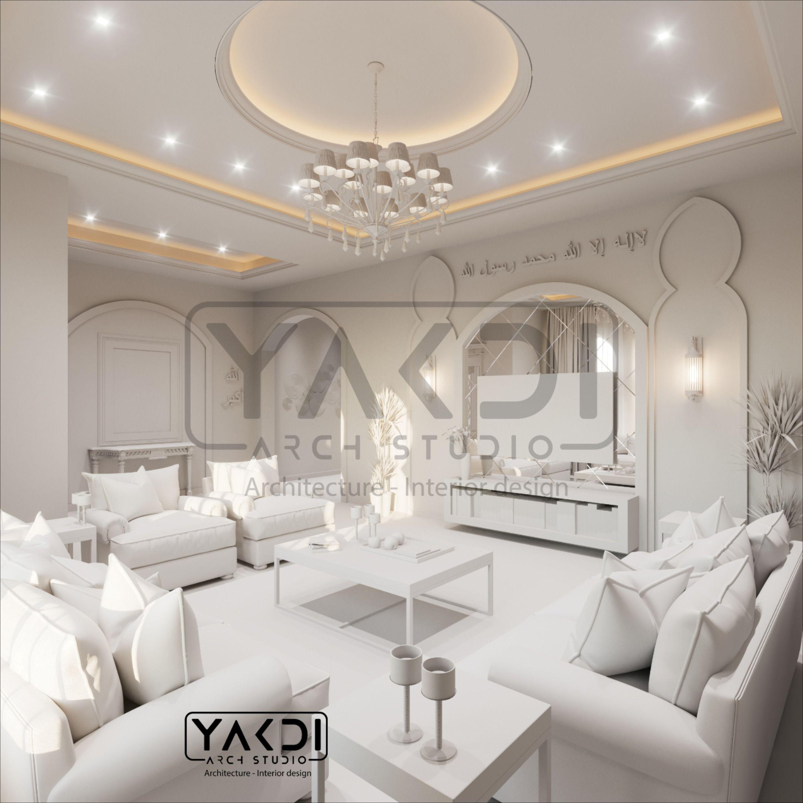 تصميم ديكور مجلس نسائي راقي و مميز بلمسة حداثة مع الزجاج و ورق جدران حديث الطراز ممكن تسميته ب نيوكلاسيك تصميم داخلي ديكور نسائي صا Home Decor Home Design
