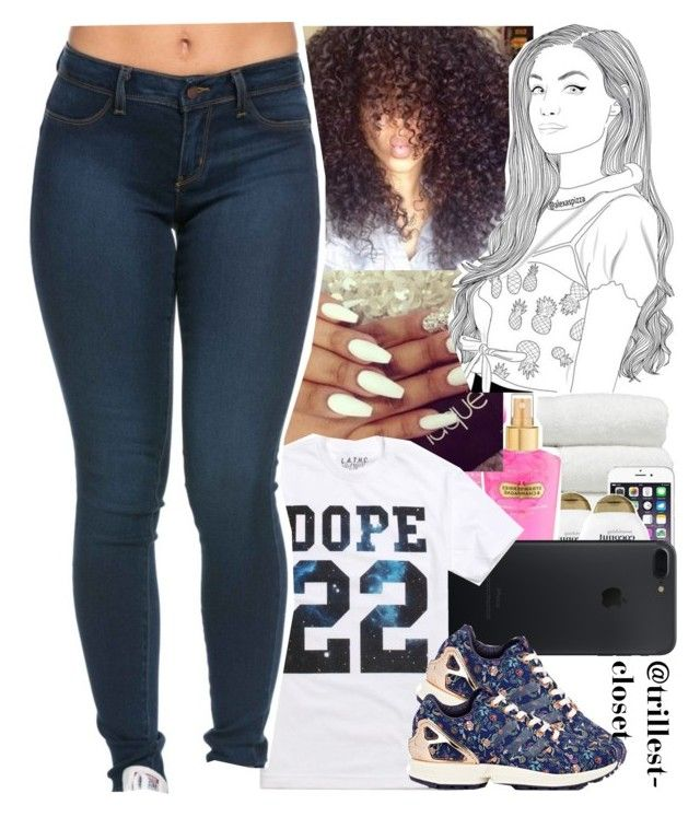 """""""Trynna win a contest"""" by trillest-closet ❤ liked on Polyvore featuring LATHC and adidas"""