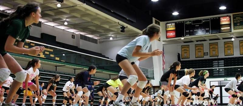 Indoor Day Camp Session I By Usf Volleyball Camps Playpass Volleyball Camp Day Camp Youth Volleyball