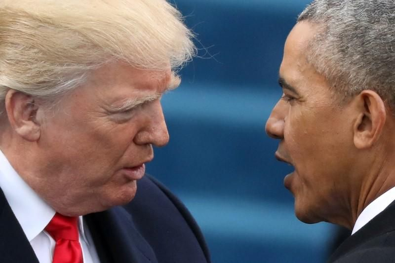 U.S. President Donald Trump on Saturday accused former president Barack Obama of wire tapping him in October during the late stages of the presidential election campaign, but offered no evidence to support the allegation.