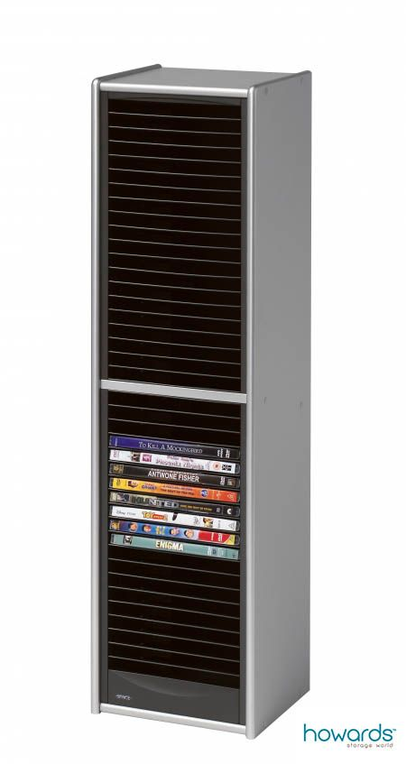 40 Dvd One Touch Tower Dark Silver Keep Those Dvds Nice