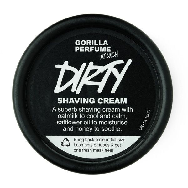 Dirty Shaving Cream (12 CAD) ❤ liked on Polyvore featuring beauty products, bath & body products, hair removal, beauty, fillers, makeup, body and cosmetics