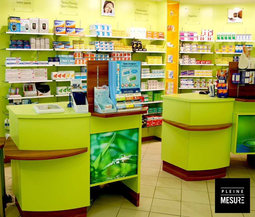 Pharmacie Agencement Boutique Interieur Decoration Pleinemesure