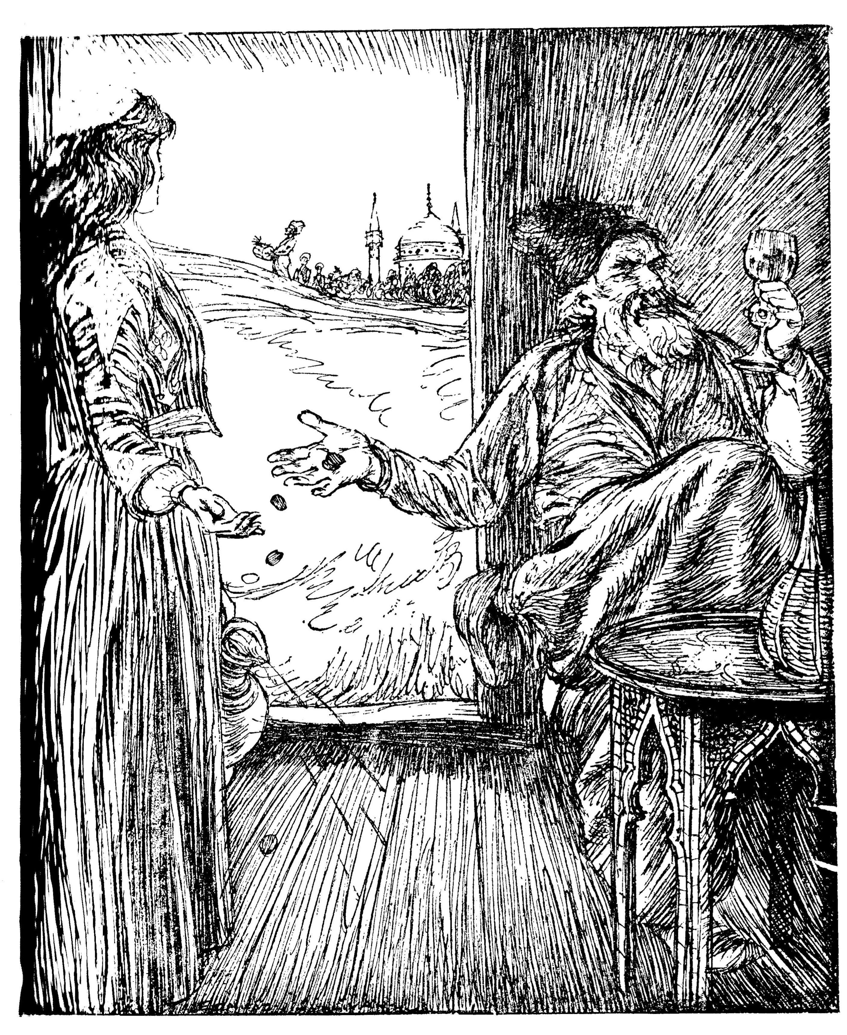 Edmund J Sullivan Illustrations To The Rubaiyat Of Omar