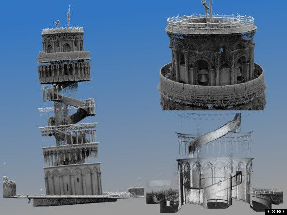 3D Mapping Creates Stunning Image Of Leaning Tower Of Pisa's Interior