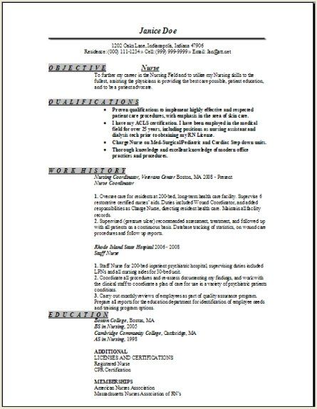registered nurse resume sample occupational examples samples free - professional summary for nursing resume