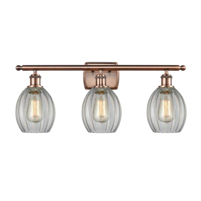 Photo of Innovations Lighting 516-3W Eaton Eaton 3 Light 26″ Wide Vanity Light Antique Copper / Clear Indoor Lighting Bathroom Fixtures Vanity Light