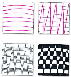 BLOG.SUZANNEMCNEILL.COM:       'Checkered Zag' pattern steps