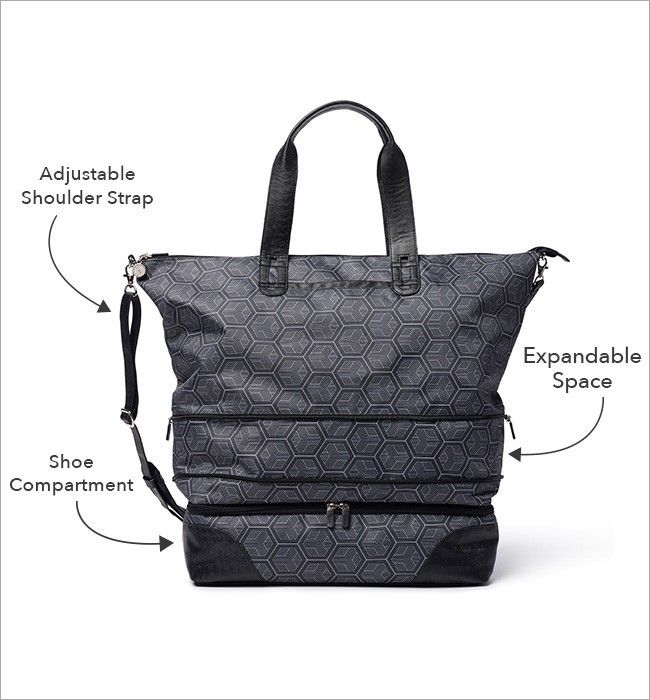 Rume Escape Tote W Shoe Compartment Can Double As A Gym Bag