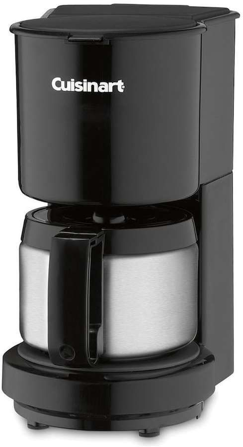 Cuisinart 4 Cup Stainless Steel Carafe Coffee Maker Black