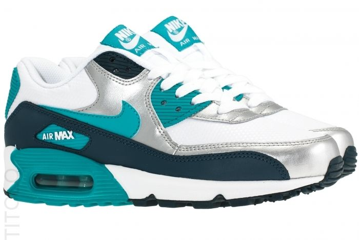 low price nike wmns air max 90 essential grau turquoise