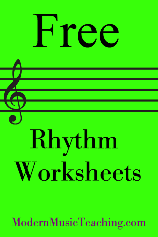 Free Music Theory And Rhythm Worksheets From Modernmusicteaching