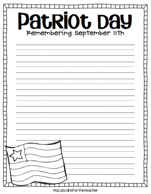 Print this Patriot Day worksheet out and write what you ...