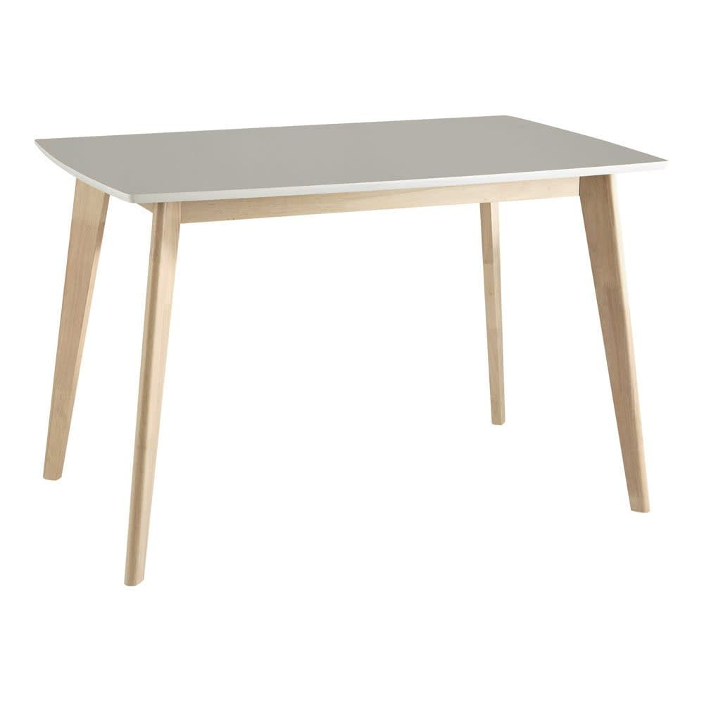 Tavolo Bianco Per Sala Da Pranzo 4 6 Persone 120 Cm Maisons Du Monde White Dining Table 6 Seater Dining Table Dining Table