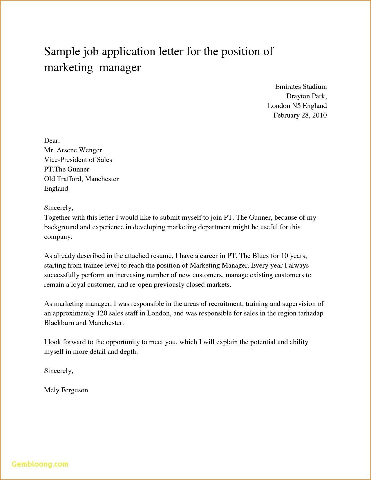 25+ Simple Cover Letter For Job Application | Cover Letter Examples ...