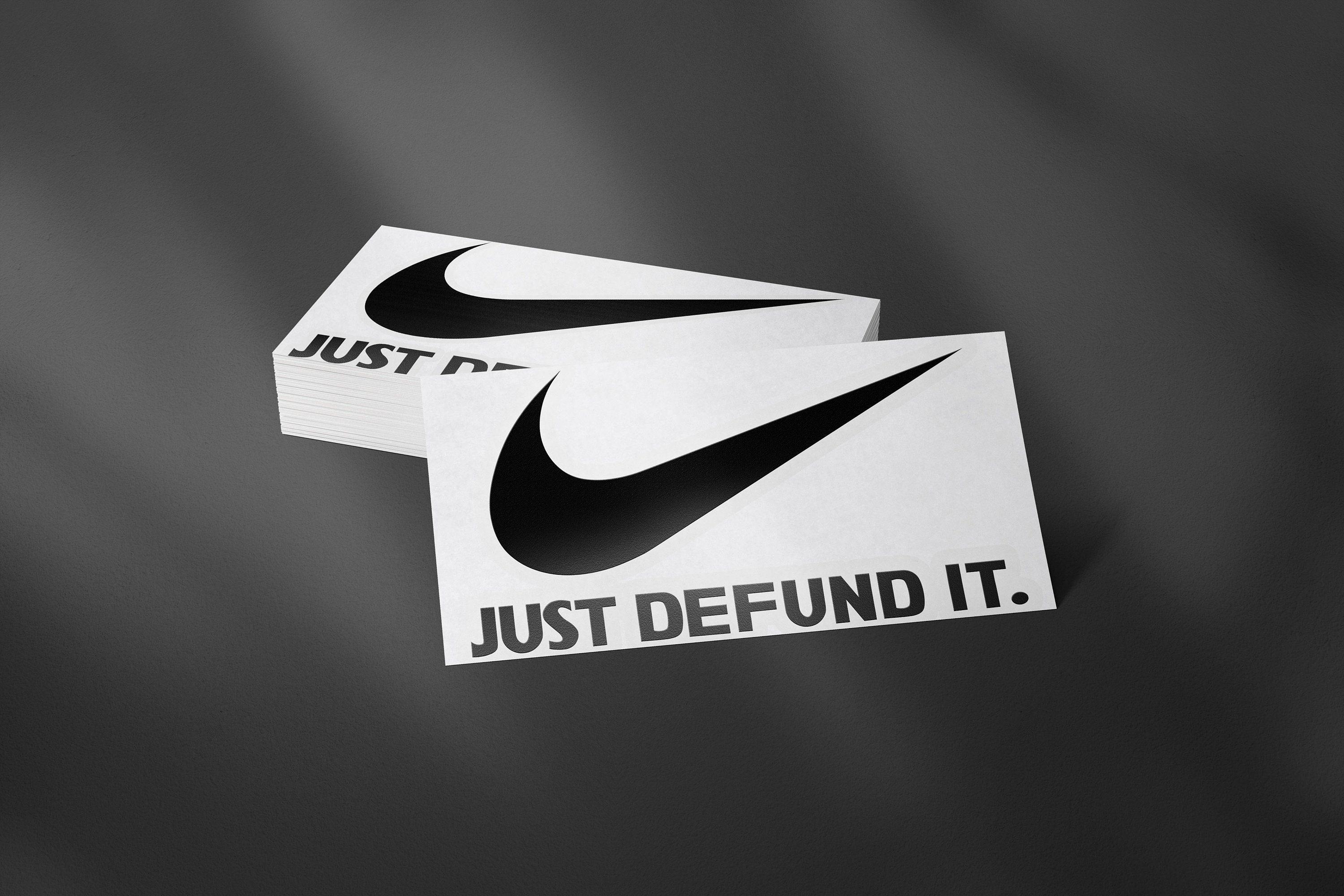 Nike Decal Sticker Black Lives Matter Defund The Police Nike Swoosh Logo Phone Case Decals Hydroflas Phone Case Decals Hydroflask Stickers Custom Tumblers