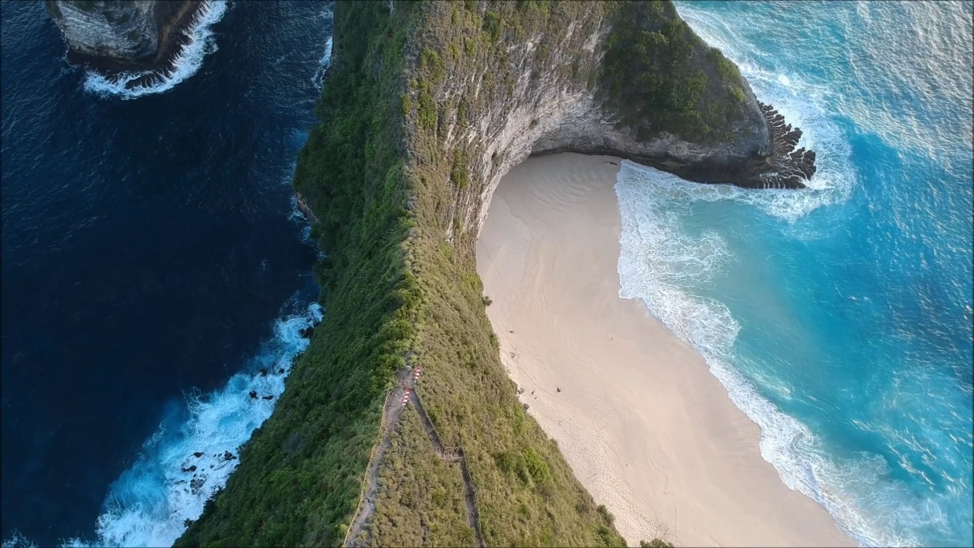 Aerial Top View Of Beach Sand Sea Blue Ocean Waves Mountain Forest Trees Stock Footage Sand Sea Blue Beach View Beach Sand Beach