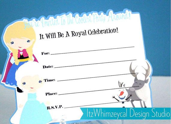 Winter Wonderland Princess Fill In The Blank Birthday Invitation – Blank Birthday Invitations