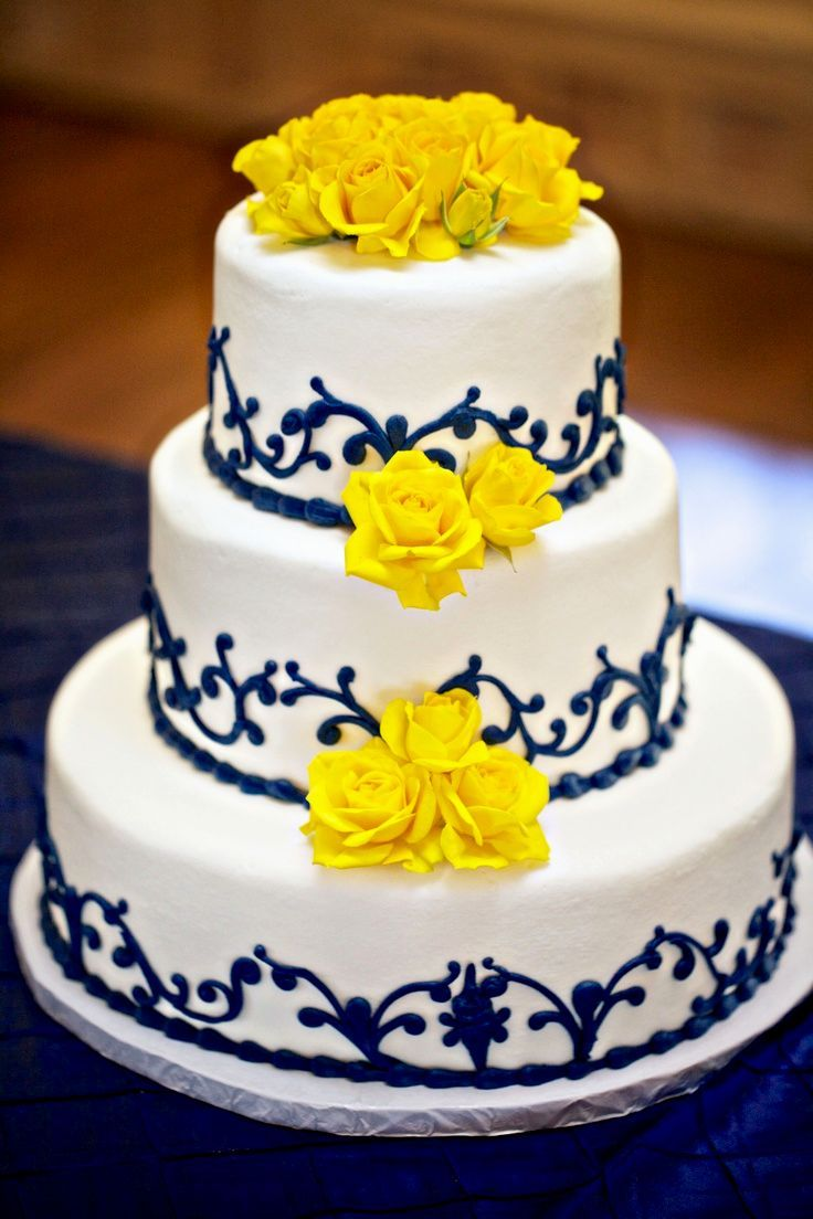 Image result for navy and yellow wedding ideas | Cakes,Cookies and ...