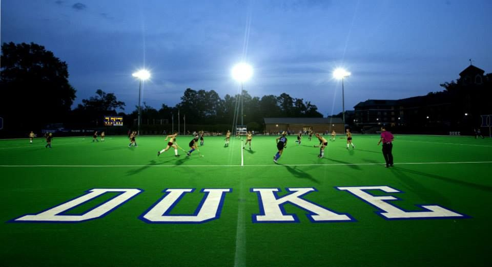 Duke Field Hockey Topped Boston College In Ot Under The New Led Lighting System At Williams Field At Jack Katz Stadium Goduke Field Hockey Field Soccer Field