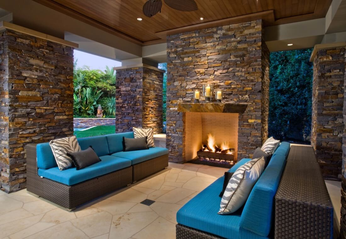 20 Of The Coolest Outdoor Fireplaces Outdoor Living Backyard