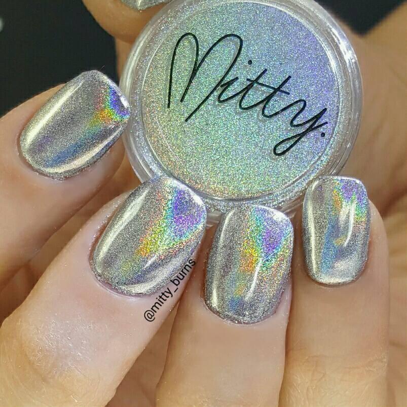 Mitty Magical Fairy Dust Holo Nail Art Powder | Diseños de uñas ...