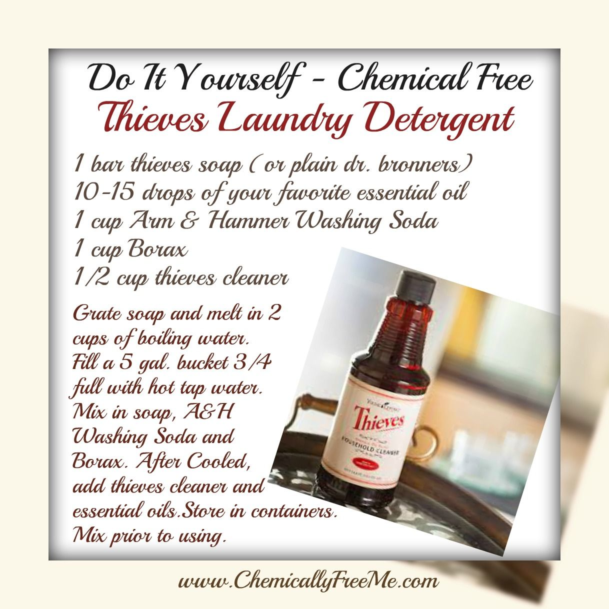 Diy Chemically Free Thieves Laundry Detergent Laundry Detergent
