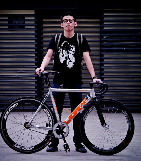 Ansons LOW Track / H.K MOFO Team #fixie #bicycle #ZIPP