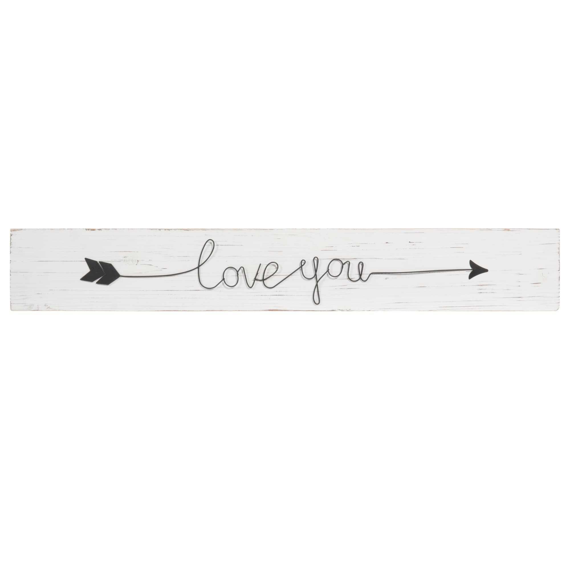 Bild Pfeil aus Holz 12 x 75 cm LOVE YOU Jetzt bestellen unter: https ...