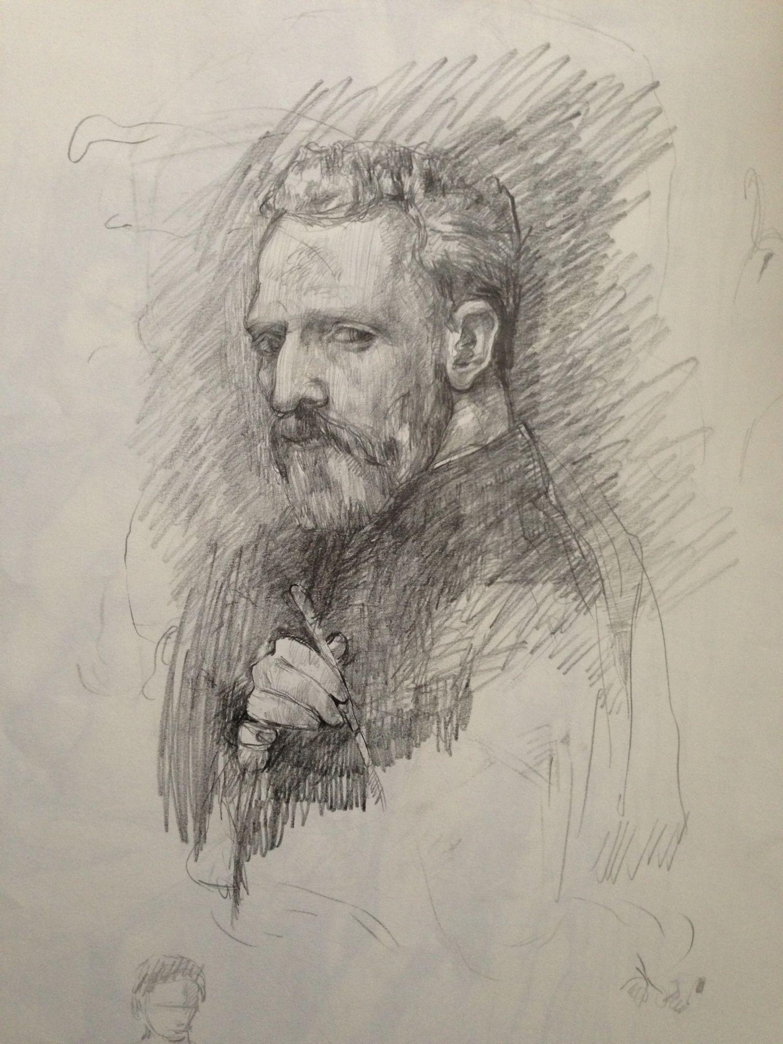 Vincent van Gogh sketch. By @Adil Can Nalkiran. Hayranın olarak. :D