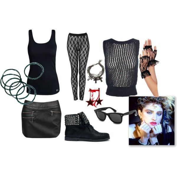 80\u0027s Madonna\ - black skirt halloween costume ideas