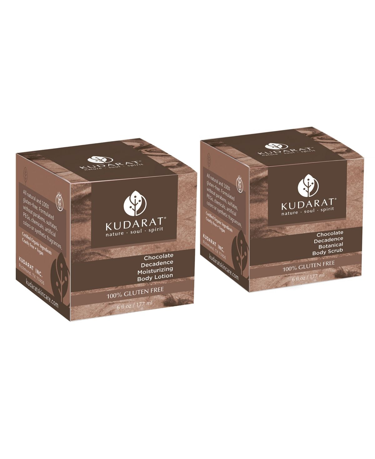 Kudarat Chocolate Decadence Body Care Duo, 12 oz