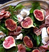 Arugula Salad with Figs, Buffalo Mozzarella, and Parma Ham