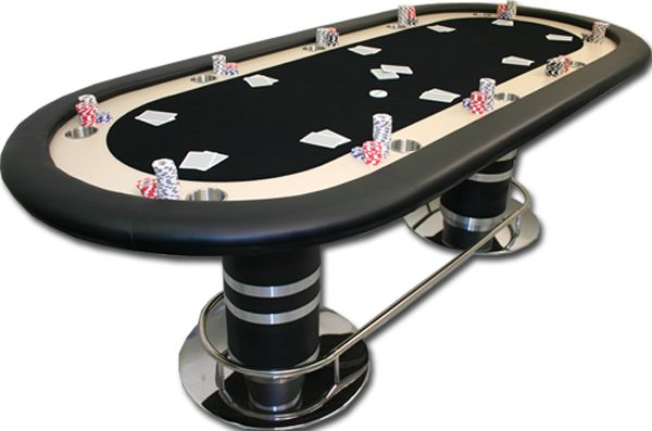 96 X 42 Texas Holdem Pedestal Poker Table Black Poker Table Texas Holdem Poker Poker