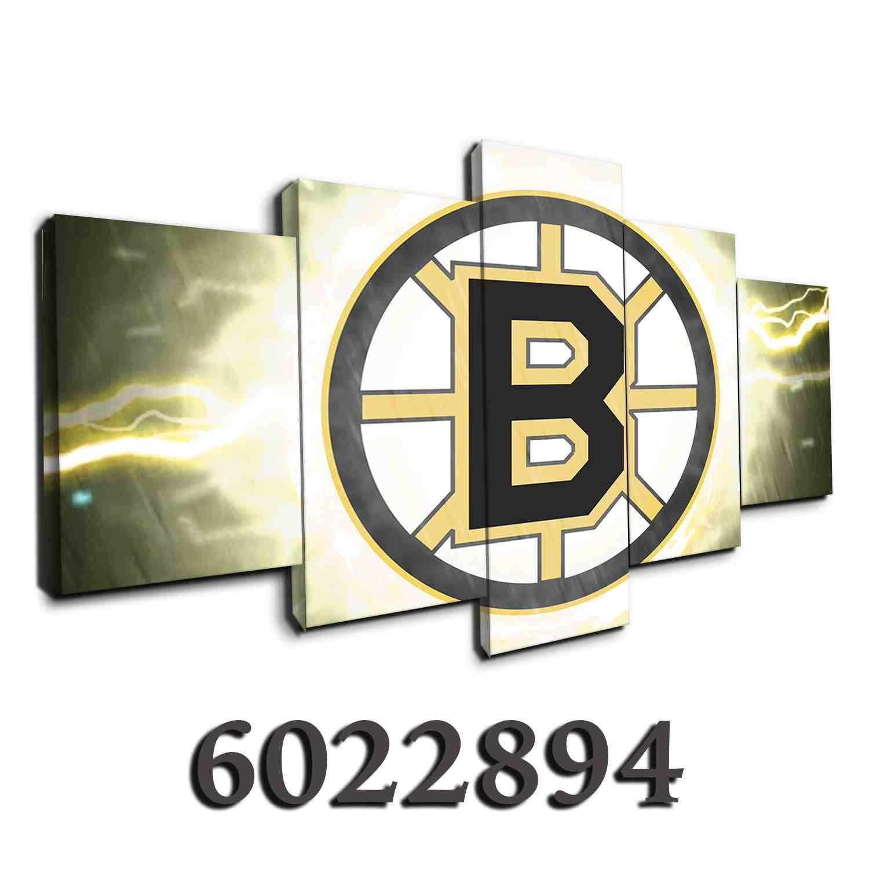 Boston Bruins NHL Team (Thunderbolt) Canvas wall art