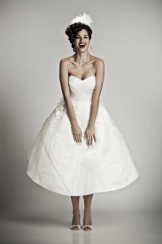 Love the classic look vintage short weddingdress wedding dresses