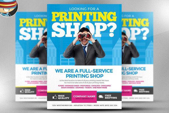 Printing Services Flyer Template Brochure Print Flyer Brochure