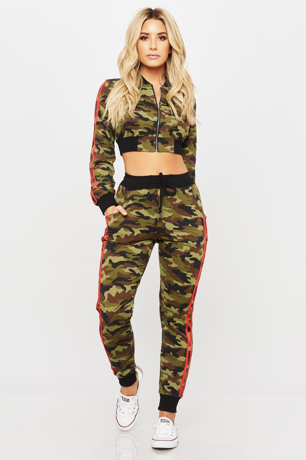 Wholesale Crop Top Hoodie And Jogger Pants Set Loose Fit