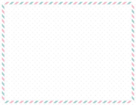 Pink Teal Frame, Page Frame, Page Border, Border Paper, Frame Clipart, Decorative Border, Postcard Frame, Digital Frame, Postcard Border.