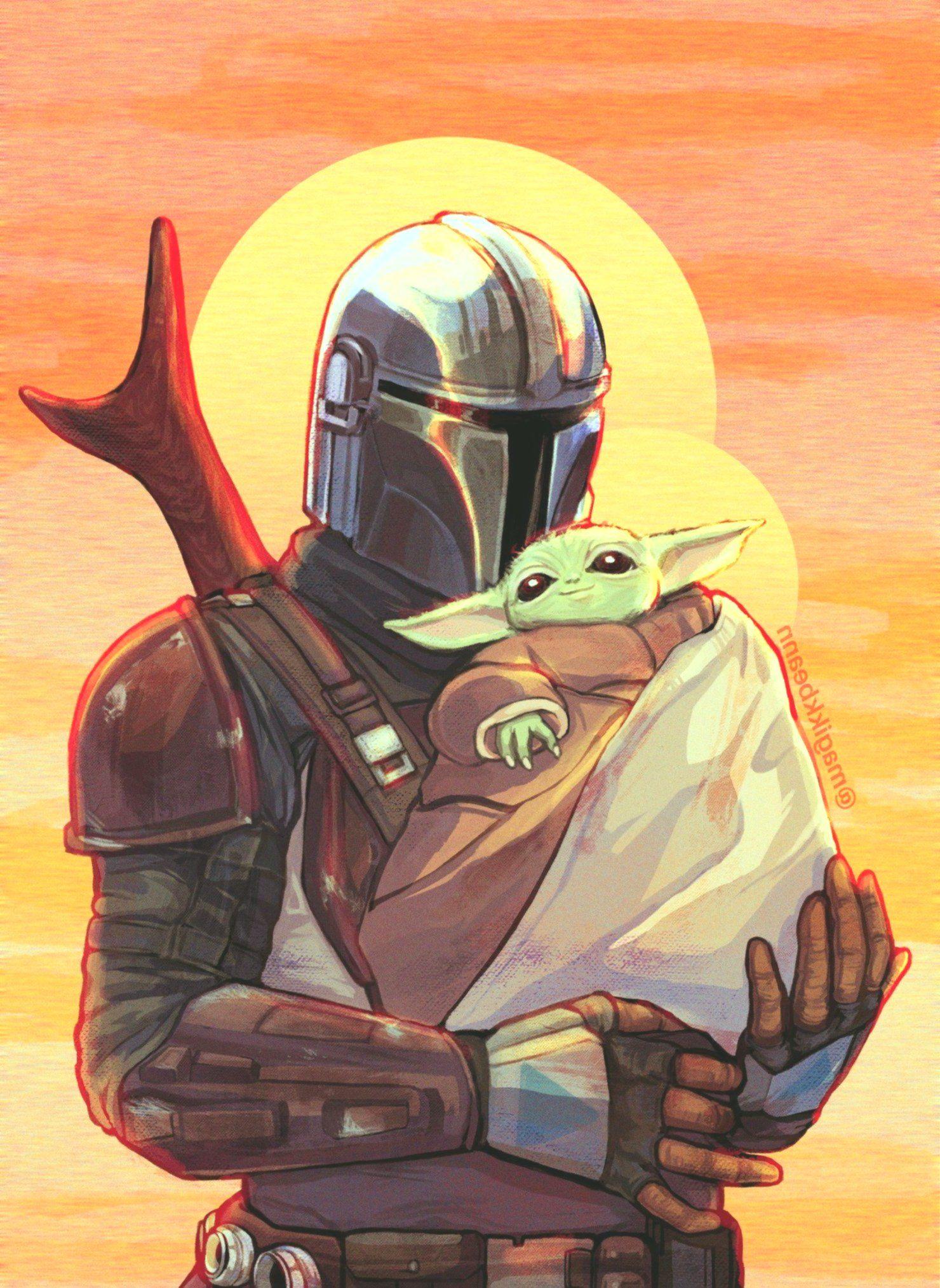 17 Beautiful Baby Yoda Wallpapers Yoda Wallpaper Star Wars Wallpaper Star Wars Art